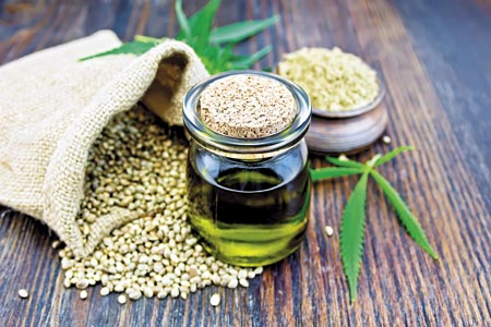 veterinary-hemp-oil-in-a-glass-jar-with-flour-450px-shutterstock-484397845