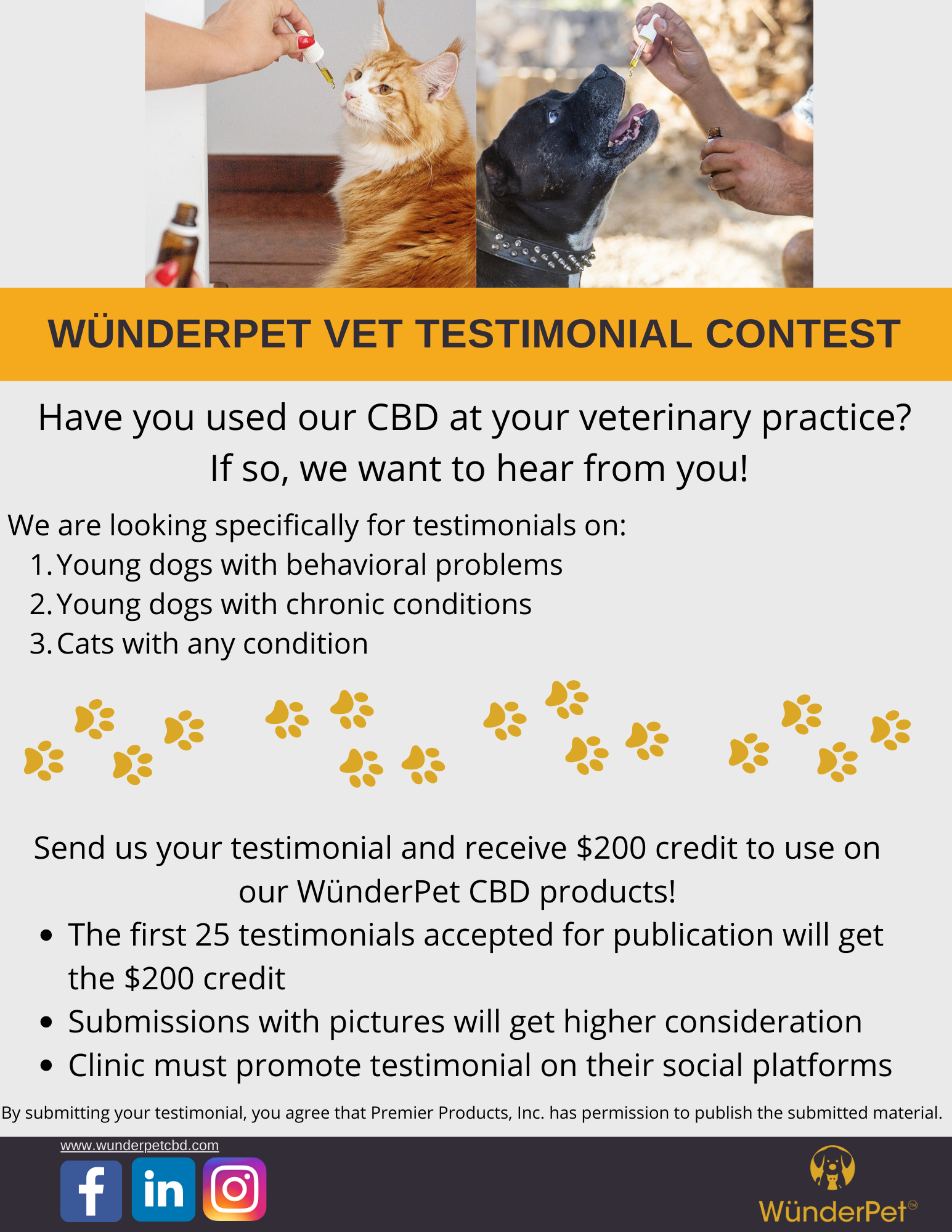 WünderPet vet testimonial contest